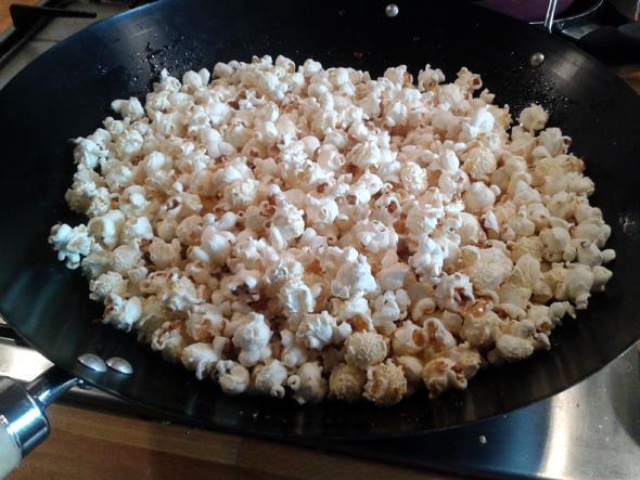 popcorn uit de wok