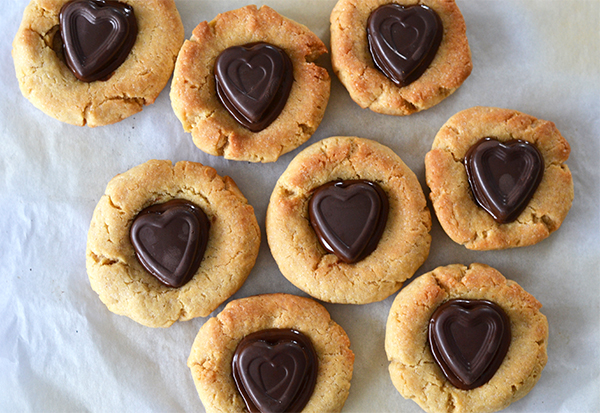 valentijnskoekjes met pindakaashart 1