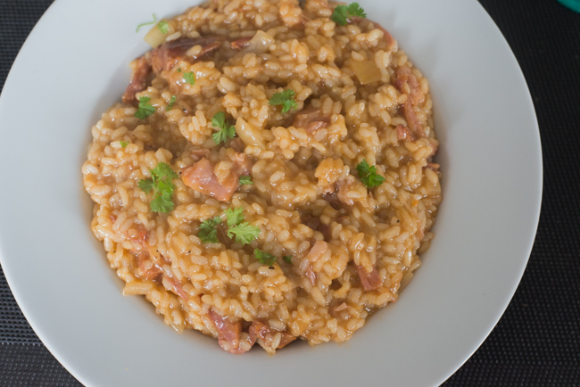 Barbecue Pulled Pork Risotto