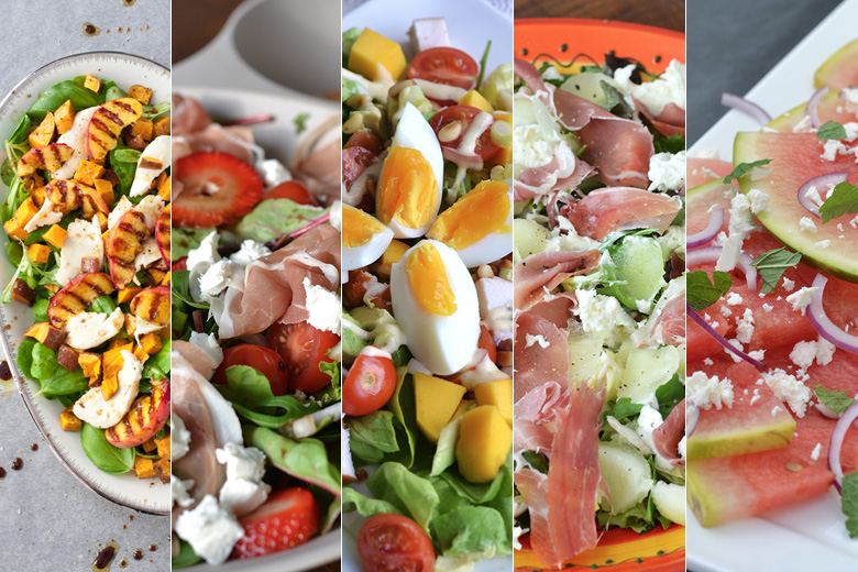 5x salades met fruit