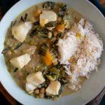 Groene curry met kabeljauw en paksoi