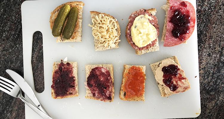 Bizarre smaakcombinaties #2 - Broodbeleg