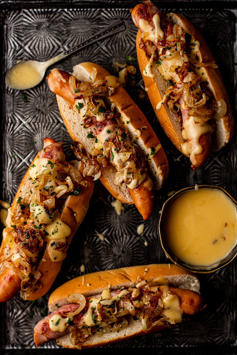 Bacon wrapped hotdogs