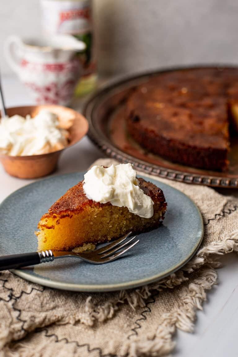 Oranjebloesemcake met sinaasappel