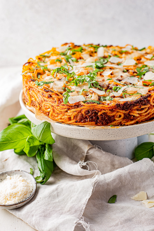 Spaghetti bolognese taart