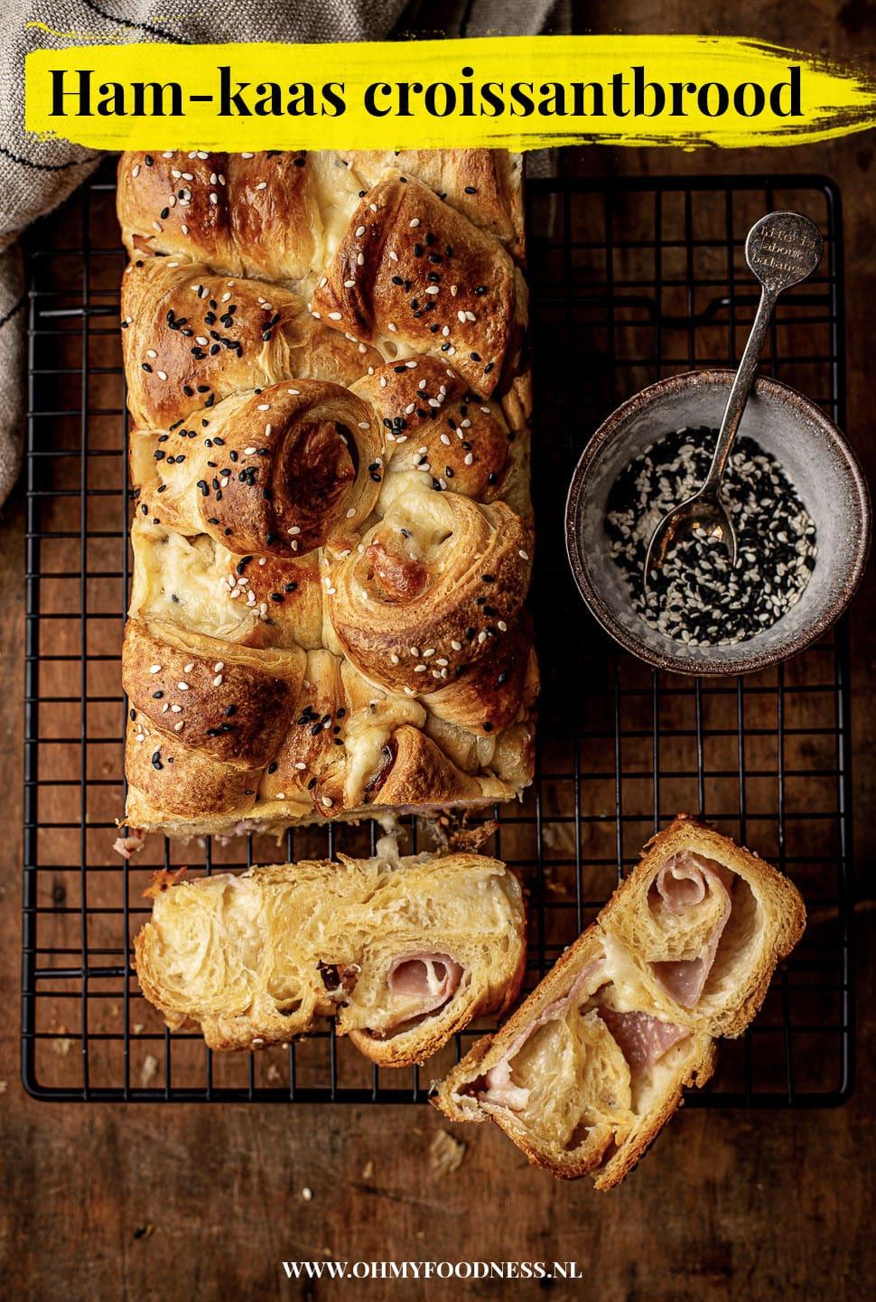 Ham-kaas croissantbrood