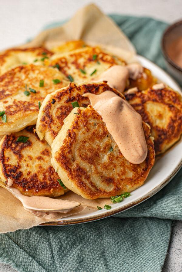 Leftover aardappelpannenkoekjes
