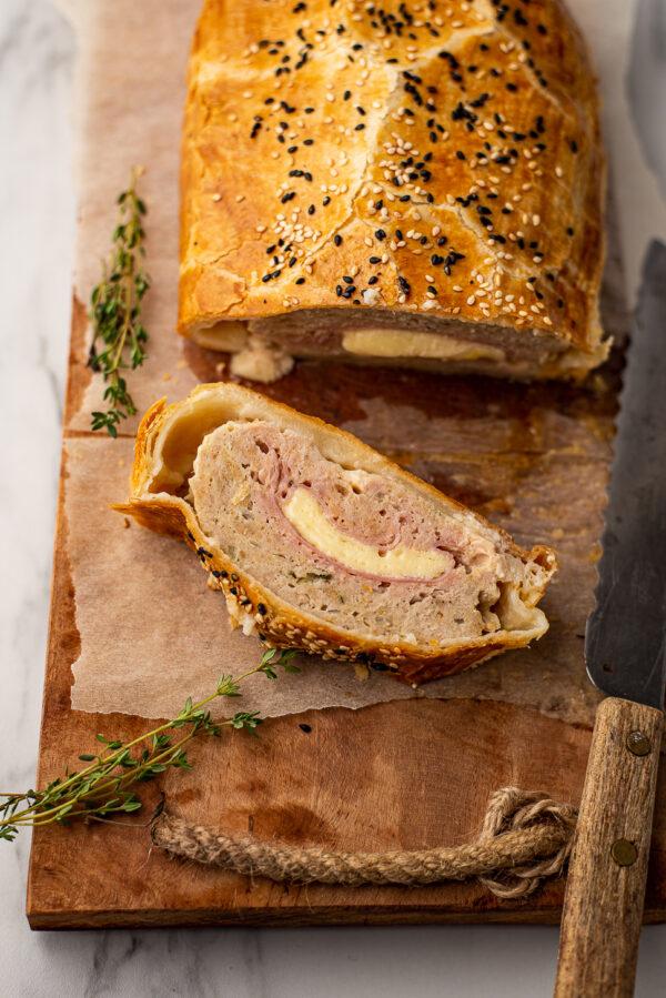 Kip cordon bleu gehaktbrood
