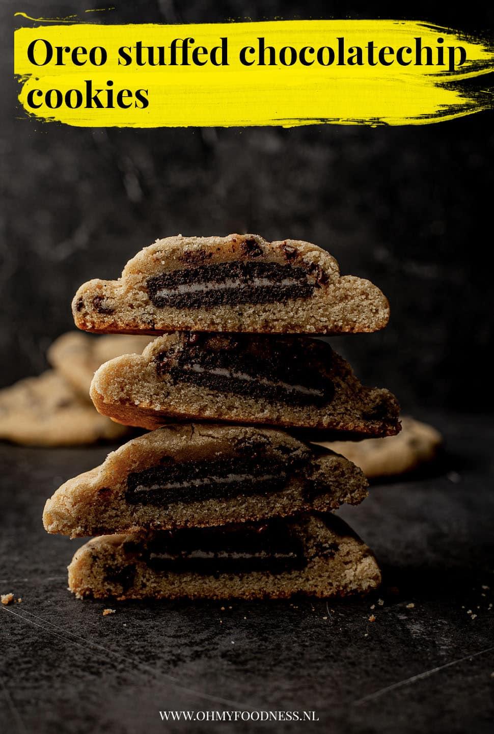 Oreo Stuffed chocolatechip cookies