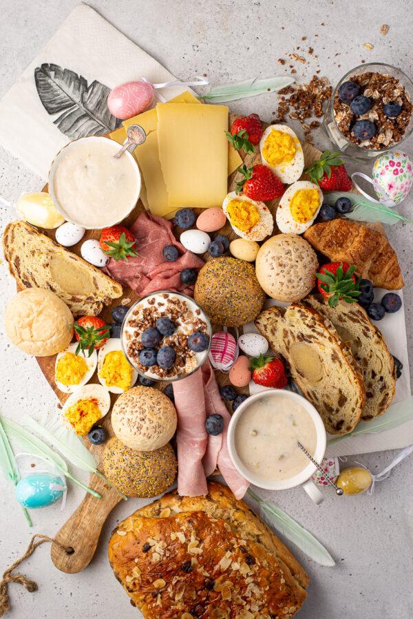 Budgetproof brunchplank voor Pasen