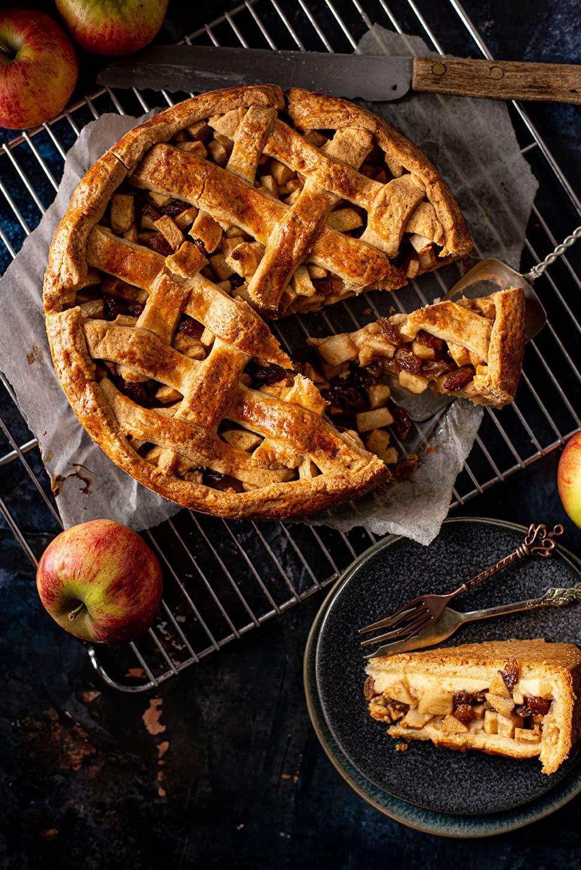 Custard-appeltaart