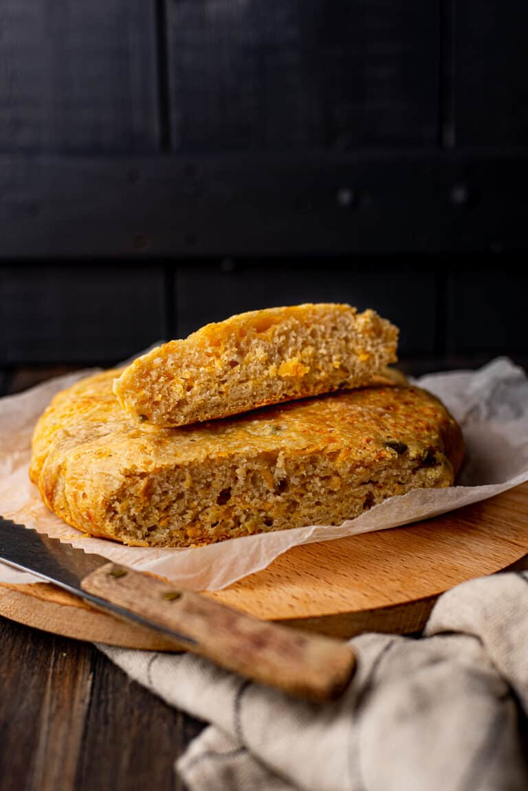 No knead jalapeno-cheddarbrood