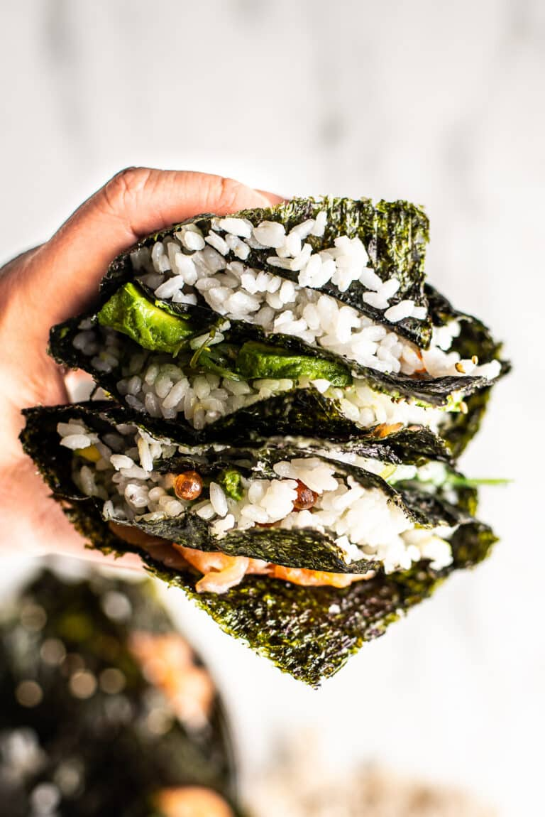 Sushi sandwich met gerookte zalm