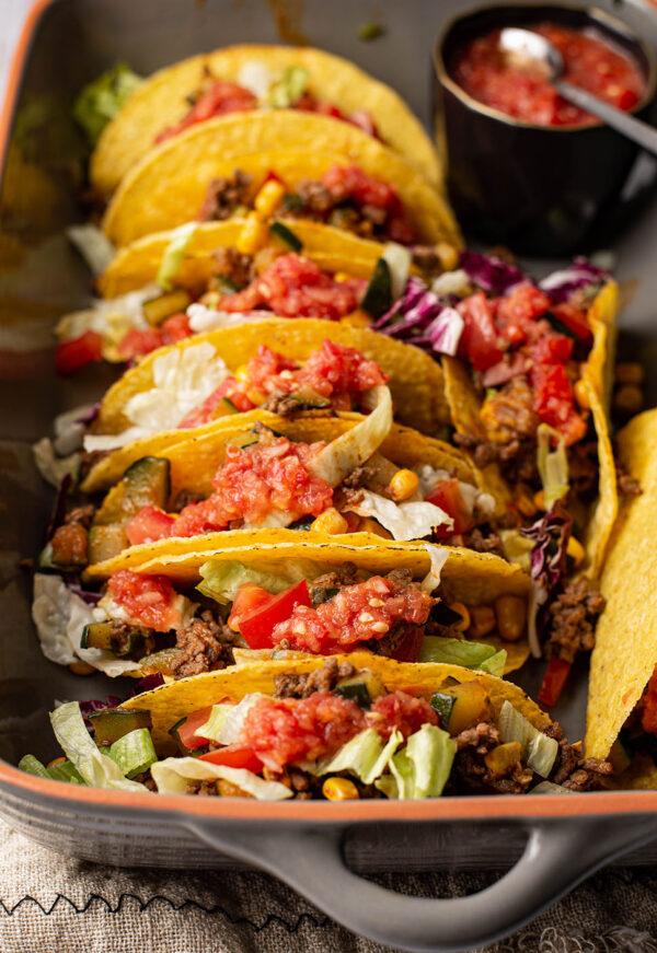 Mexicaanse taco's zonder pakje