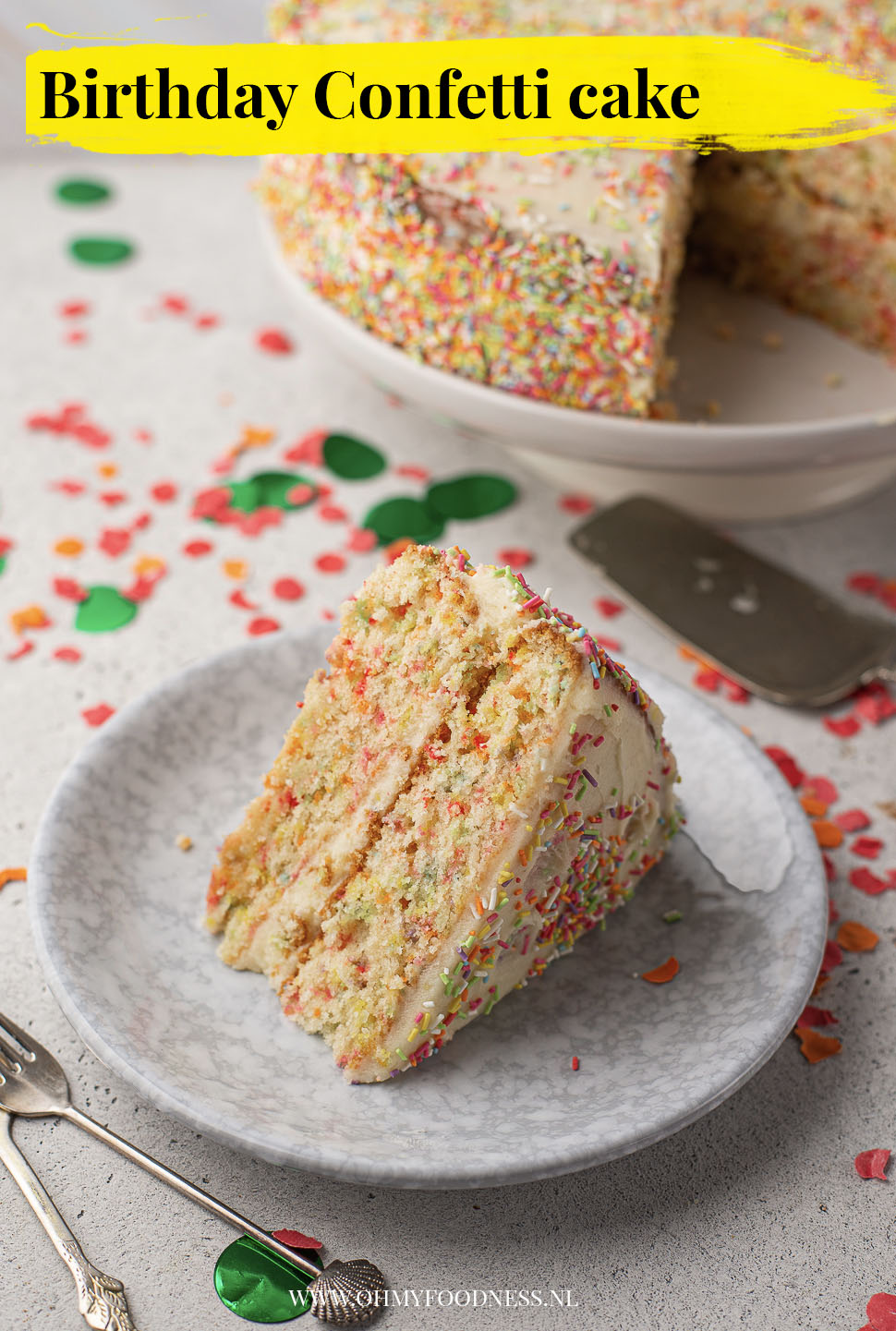 Birthday confetti cake