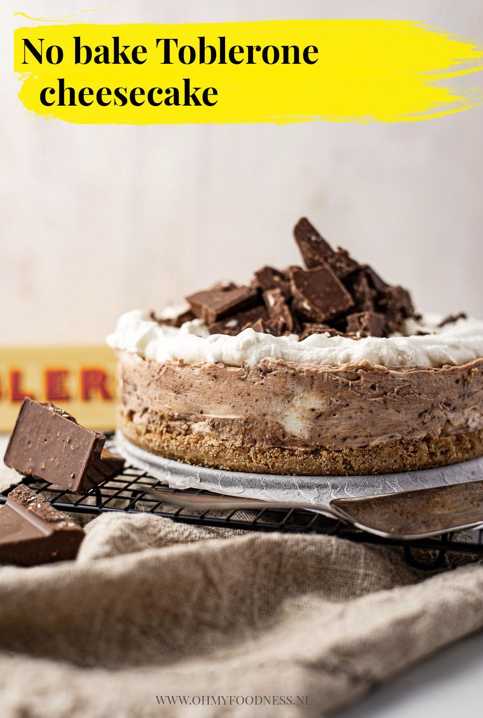 No bake toblerone cheesecake