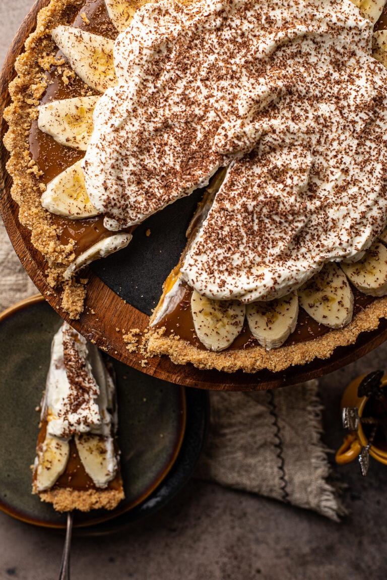 Super makkelijke banoffee taart