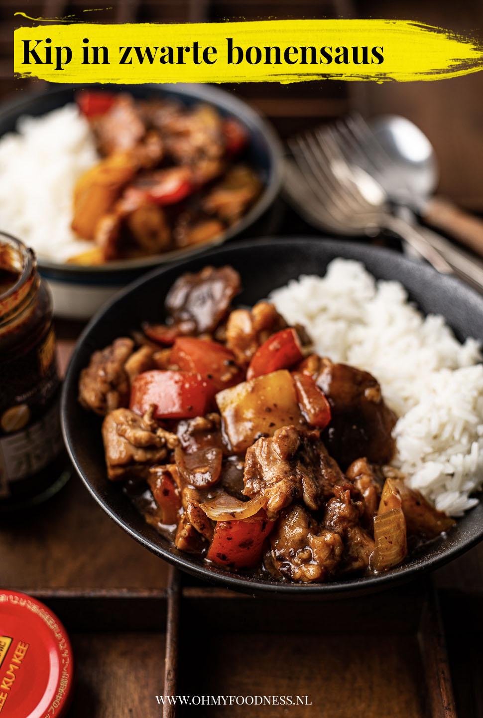 kip in zwarte bonensaus