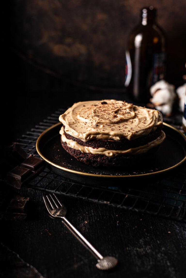Tweepersoons chocoladetaartje met koffiecreme